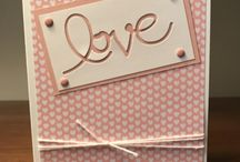 Love cards / Valentine / wedding / engagement card ideas Stampin Up