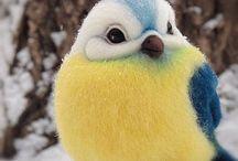 tovade fåglar