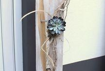 deko Material vor der Haustür
