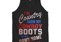 Country Girl Apparel / Apparel for you country girls. Perfect for Summer concerts!