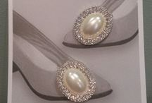 Clips for Bags and Shoes. / Stunning new shoe and bag clips now available at Darcy Weddings. Perfect way to add a bit of sparkle to the simplest pair of shoes.  www.darcyweddings.co.uk