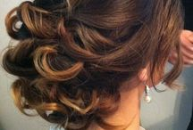 Hair ups brides bridesmaids and make up