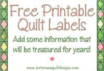 Quilting - Labels