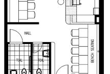 Gallery/Cafe Floor Plans