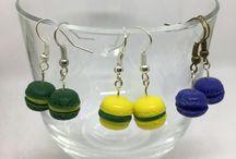 Macarons / Earrings, rings