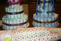 Diaper cakes/baby showers / by Stephanie Burns