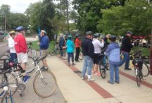 Jack Kline's Yellow Springs: bicycle tour... / Hosted by Westcott House of Springfield, Ohio.  Hosted and led by Kevin Rose. / by John Ober