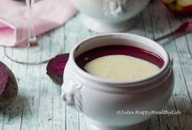 BEETROOT SOUP WITH APPLE HORSERADISH FROTH
