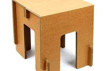 taburete cartón