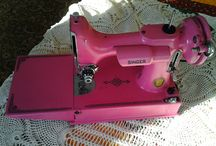 Repainted sewing machines