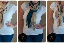How to Wear / Stuck on how to wear your scarf? Here are a few creative ideas...