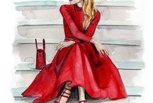Fashion / Drawing, make up, look