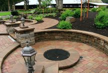 Outstanding Outdoor Living Areas / One of the hottest trends for backyards today is creating the ultimate outdoor living area. Raised and multi-level patios, fireplaces, fire pits, grills, outdoor kitchens, entertainment areas, pool decks and permeable interlocking concrete pavement mixed with unique lighting and water features some of many items to consider when planning your concrete paver outdoor living space.