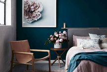 Bedroom rich in color