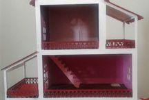 Casinha de bonecas / Sugestão de presentes para seus filhos,  pintado em MDF,  na cor que quiser