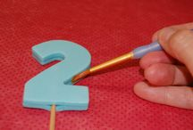 Number fondant cake toppers
