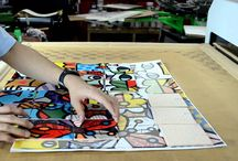 Dye Sublimation Printing on Tiles Wall Murals / Create an amazing wall murals by dye sublimation.