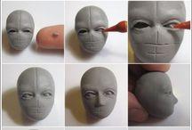 Голова из глины