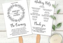 Wedding Program / Wedding Program Editable Templates