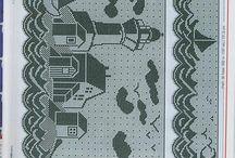 Filetové háčkování - vzory