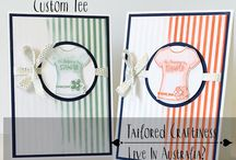 Custom Tee Stampin Up! / Stampin Up!, stamping, craft, t shirts, birthdays, any occasion