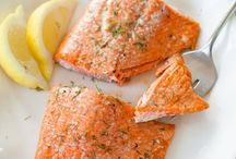 Cooking / Oven cooked salmon