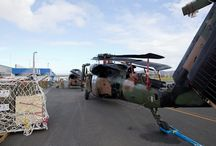 Australian Army S-70 Black Hawks arrive in Vanuatu / Two Australian Army S-70 Blackhawk's arrived in Vanuatu and were unloaded from a Royal Australian Air Force C-17A Globemaster III during the late hours of Friday 20 March, 2015. On Saturday, 21 March, the ground crew assembled the aircraft and technically prepared both of them for their first flight as part of Operation PACIFIC ASSIST 2015.
