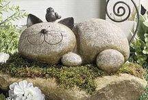 stone and metal animal