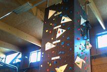Parete arrampicata novello / Struttura in legno lamellare per pareti di arrampicata
