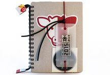 KA_LEN_DIAR - Diary, diář - REFILL / Náplň / Unique recycle diary, originální recykl diář