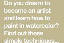 olika målningstekniker