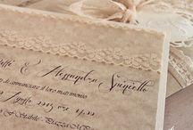 Vintage Wedding invitations / Partecipazione di Nozze fatta a mano per un matrimonio in stile Vintage, firmata Roshel Weddings & Co.