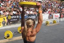 """CrossFit  / Other gyms use machines…CROSSFIT builds them  """"Squat, jump, climb, throw, lift.""""  To curb my obsession I need a whole board dedicated to CrossFit. Enjoy. / by Nicole Carlin"""