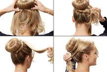 Frauen Haare stylen