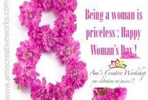Happy women day / Celebrating women's day