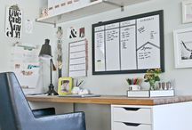Home office / Simple stylish ideas for an office at home for those who work from home.
