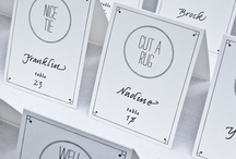place cards & escort cards