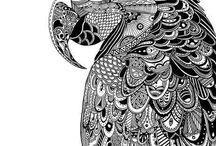 perroquet mandala