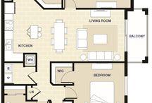 Three Bedroom Apartment in Miami, FL / Floorplan
