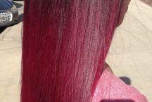 teinture rouge frisé