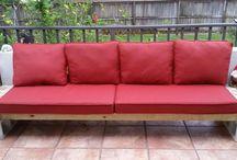 Cinder blocks couch