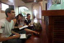 Aula no Museu de Arte Sacra - MAS/UFBA / aula da disciplina de Arte Sacra do Curso de Museologia.