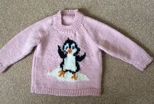 Picture jumpers / Hand knitted and designed by me!