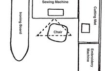Small sewing room plans