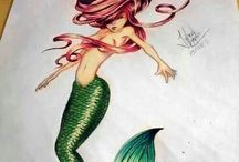 Tetování mořské panny