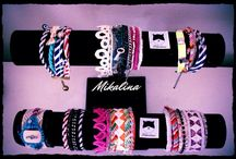 Mikalina bracelets / Handmade bracelets with fabric elements and stones!