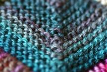 Knitting - sock yarn blanket