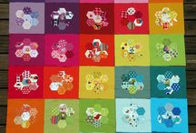 Hexagon quilts / Different ways people have used hexagons in quilts, all hexies, appliqued, fussy cutting etc. Imagination is a wonderful thing!