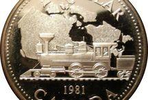 Monedas plata y oro Canada