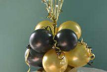 Decoración negro y dorado